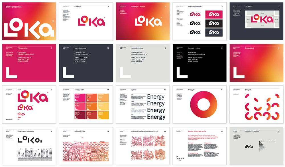 new name logo and identity for loka energy by believe in cl rh pinterest com Hilton Brand Standards Manual Brand Standards Template