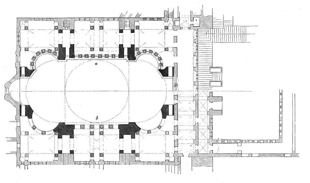 Planta De Santa Sofia De Constantinopla 532 537 Considerada Esta Obra Como La Revolucion Arq Santa Sofia Arquitectura Paleocristiana Arquitectura Bizantina