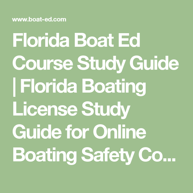 Florida Boat Ed Course Study Guide | Florida Boating License