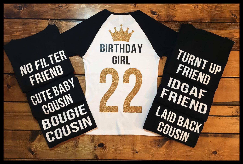 Squad Birthday Shirts, Birthday Girl Shirt, Black T Shirt