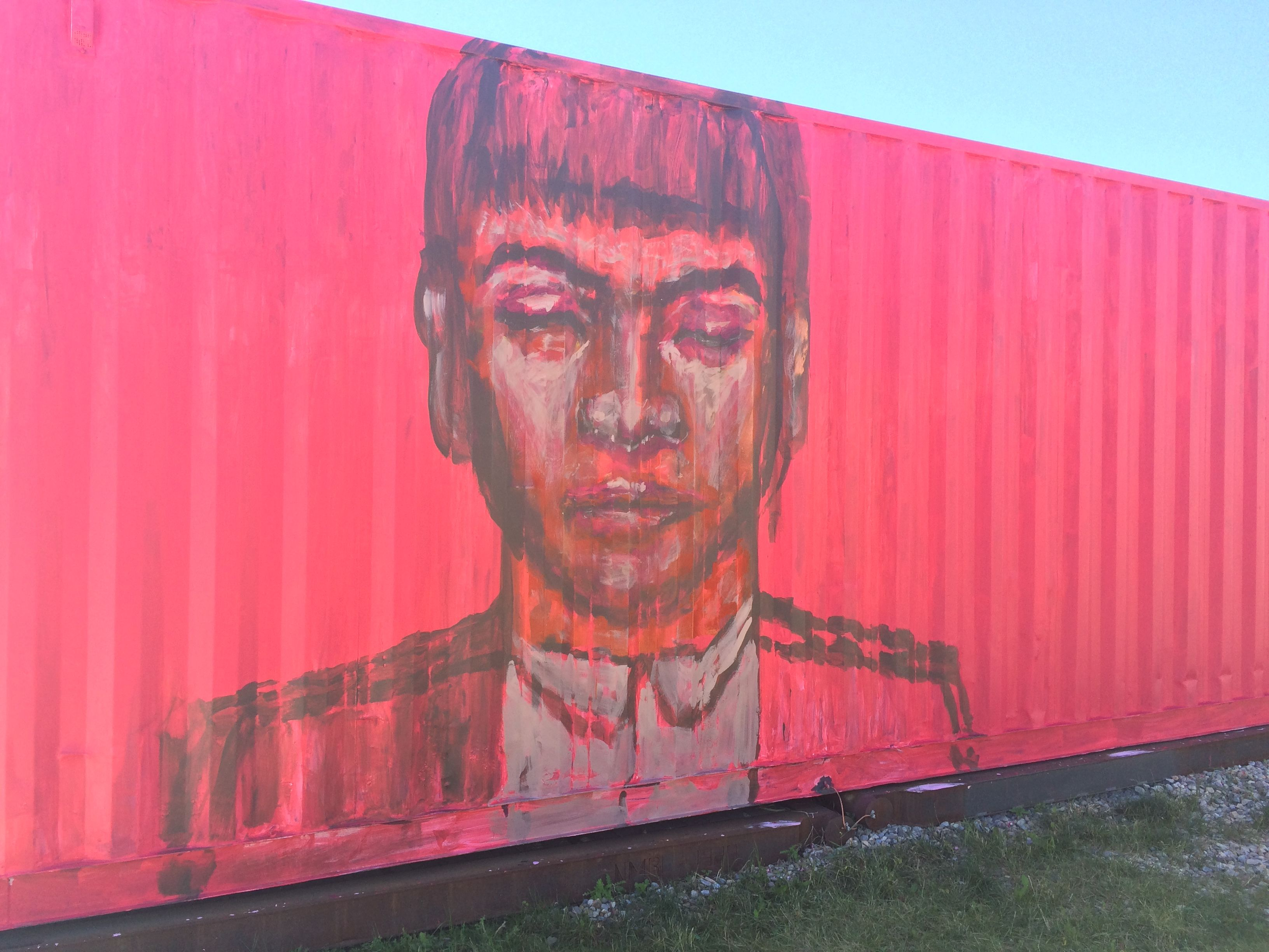 Graffiti wall calgary - Cool Artwork Painted On Shipping Containers In Kensington Calgary I Love Street Art Opposed To