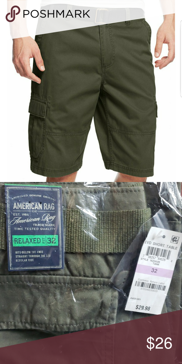 16f49d5a92 American Rag Men's Belted Relax Cargo Shorts American Rag Men's Belted  Relaxed Fit Cargo Shorts.