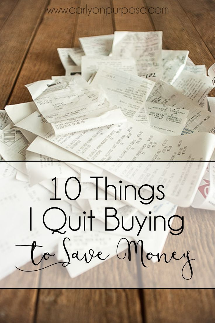 10 Things I Quit Buying (to Save Money