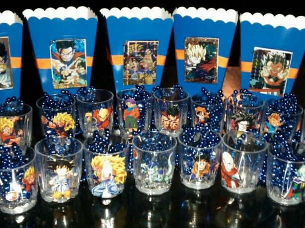 Dragon Ball Party Decorations Dragonball Z Favors  Odie's Dragonball Z Party  Pinterest