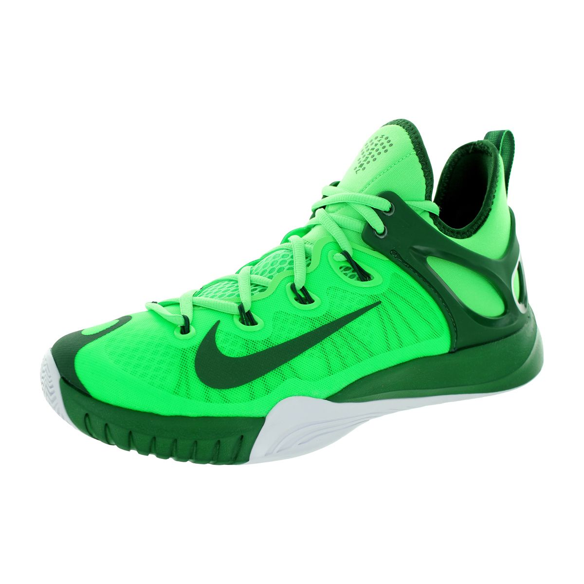 sneakers for cheap 2d431 5db86 Nike Men s Zoom Hyperrev 2015 Poison  GOrangee Greem White Basketball Shoe