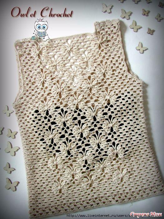 Stupendo top all\'uncinetto   Crochet-1: All About Crochet ...