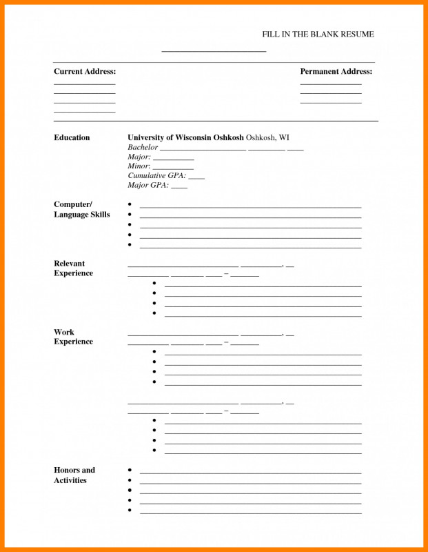 Blank Curriculum Map Template Unique 019 Template Ideas Free Printable Resume Templates Pdf Free Printable Resume Cv Template Download Basic Resume