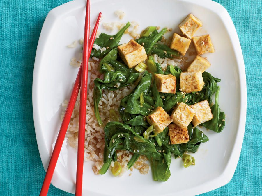 The beauty of tofu is its versatility, with a neutral, but slightly nutty, flavor that lends it the ability to soak up all the sweet-salty-tangy flavors of this simple, saucy dish. Draining and pressing the tofu yields a crisp crust when panfried