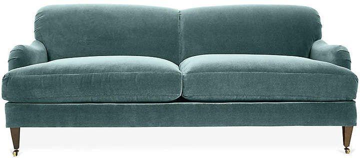 Robin Bruce Brampton Sofa Sage Velvet Velvet Sofa Living Room Sofa Velvet Sofa