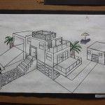 2 point perspective lesson with lots of examples of houses in 2 point as well as…