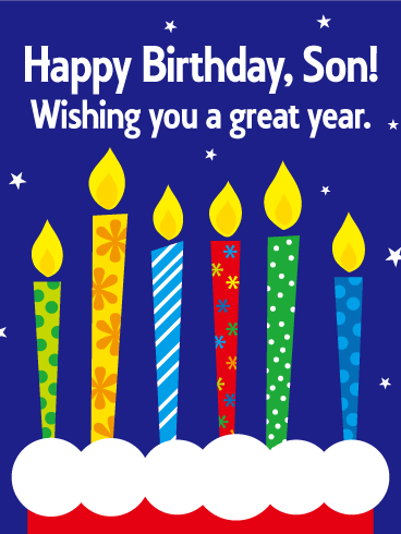 Wishing You A Great Year Happy Birthday Card For Son The Perfect