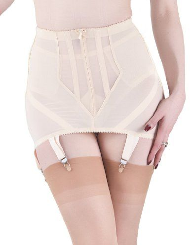 cbab87a03 Amazon.com  What Katie Did Cabaret Vintage Peach Girdle 8 US   10 UK   Clothing
