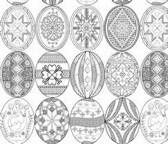 Image Result For Pysanky Eggs Coloring Page