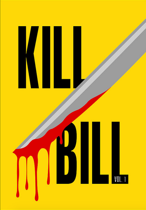 Kill Bill: Vol. 1 (2003) ~ Minimal Movie Poster by Polar Designs #amusementphile