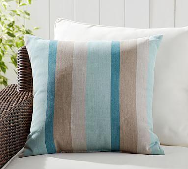 Sunbrella Lowell Variegated Stripe Indoor Outdoor Pillow