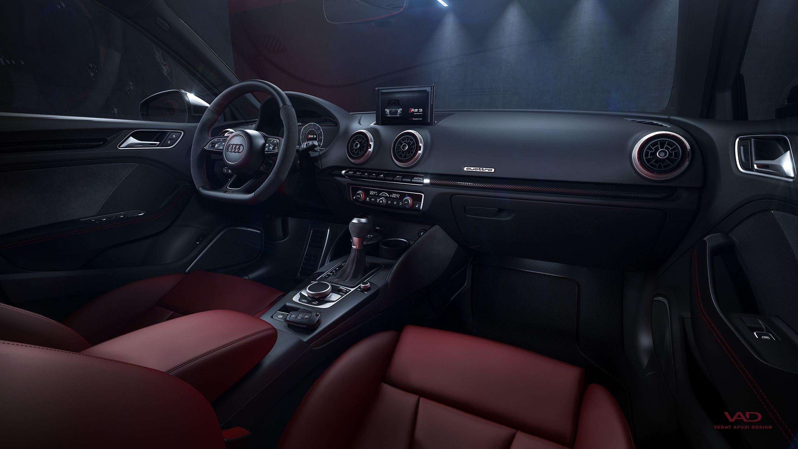 Audi Rs3 Sedan Interior On Behance Audi Rs3 Sedan Rs3 Sedan Audi Rs3
