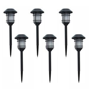 Moonrays 35 in. Solar Powered Integrated LED Color