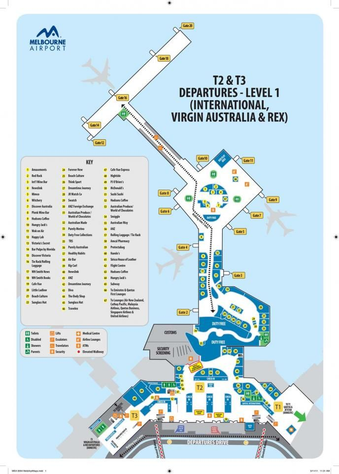 Melbourne Airport Map Maps Of Melbourne Airport | World Ventures   Bali, Indonesia  Melbourne Airport Map