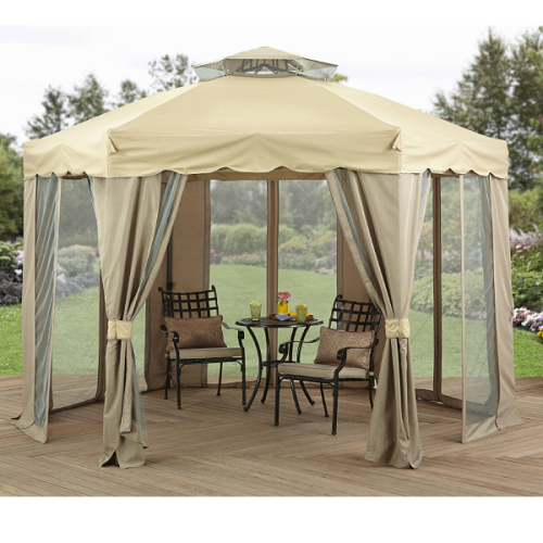 Steel Gazebo 12x12 Hexagonal Patio Outdoor Round Canopy Shelter Garden Pavilion Outdoor Canopy Gazebo Outdoor Gazebos Gazebo Canopy