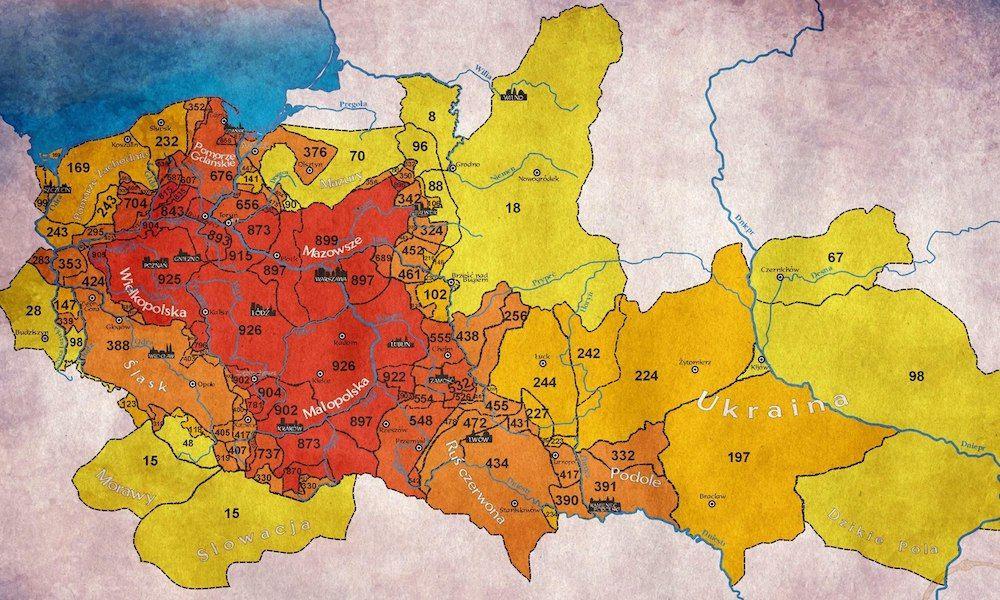 Szczegolowa Mapa Polski Z 1771 Roku Historical Maps Modern