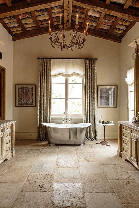 Know The 9 Best Bathroom Flooring Options For Your Home French Country Decorating Bathroom French Country Bathroom Country Bathroom Decor