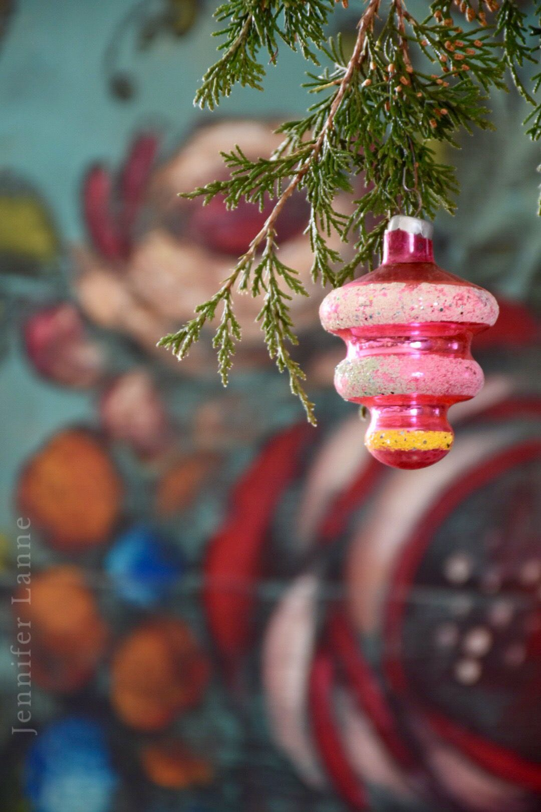 Vintage Pink Christmas Ornament Pairs With Jennifer Lanne
