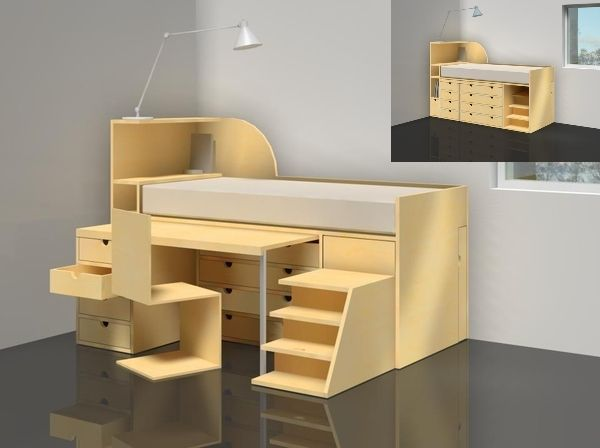 concept for a desk and bed storage combination   kid stuff      rh   pinterest com