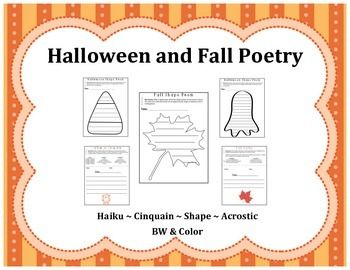 Halloween cinquain poems