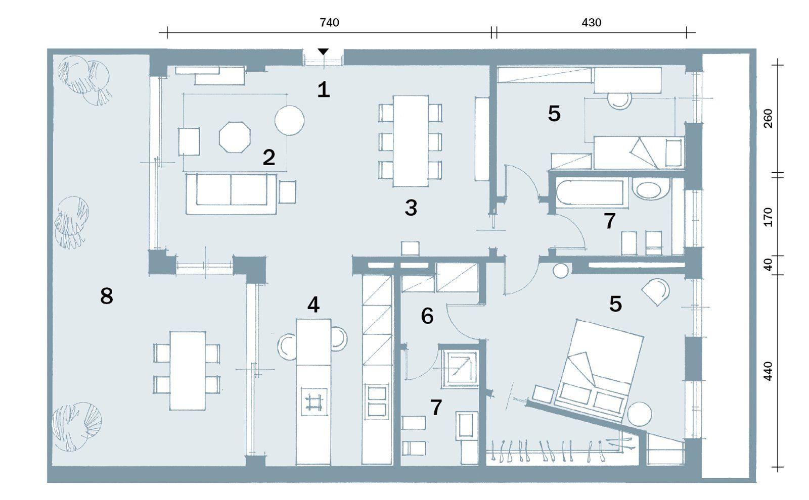 Open Space Contemporaneo Una Casa Di 100 Mq Che Sembra Piu Grande