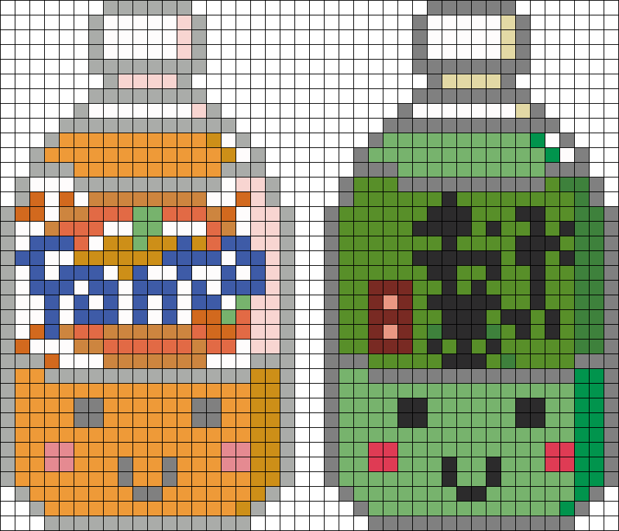Orange And Green Drinks Perler Bead Pattern Bead Sprite パーラービーズ 図案 パーラービーズ 図案