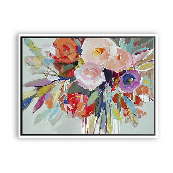 Birthday Party II Paintings ($189) via Polyvore featuring home, home decor, wall art, canvas wall art, brush strokes painting, canvas painting, canvas home decor and floral home decor