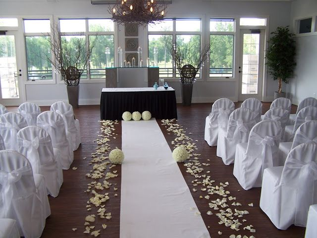 Indoor Wedding Ceremony At Whispering Springs Golf Club In