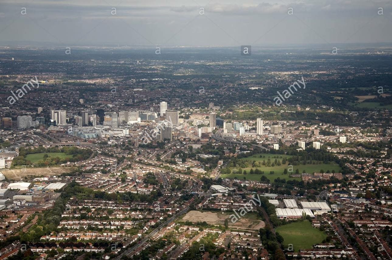 Aerial View East Fiveways Corner Duppas Hill Sports Ground