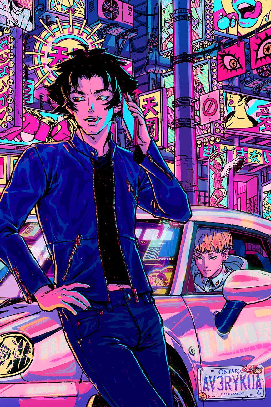 Devilman Crybaby Akira Fudo Ryo Asuka Devilman Crybaby Aesthetic Anime Poster Prints