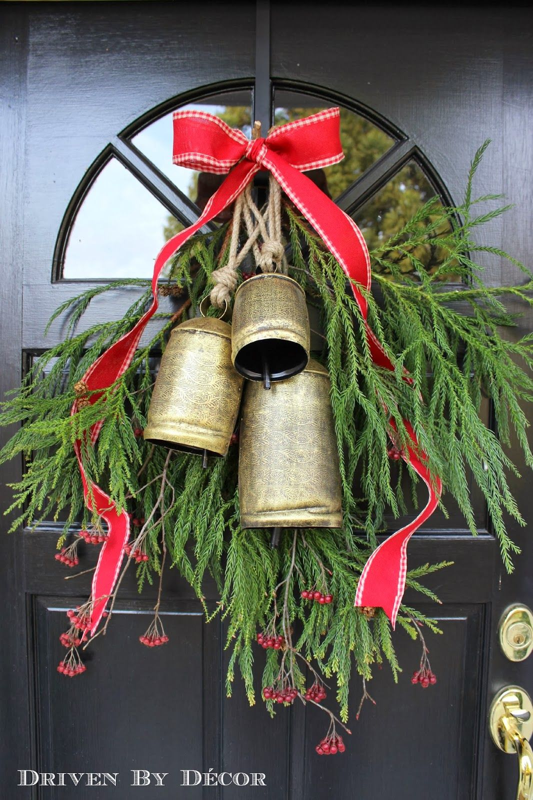 Large Christmas Bells Decorations Decorating Our Front Door For Christmas  Front Doors Advent