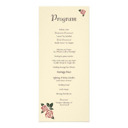 Angular #Roses Programs - 40 of these lovely #wedding programs sold today on #Zazzle and will be delighting guests in White Plains, NY soon!