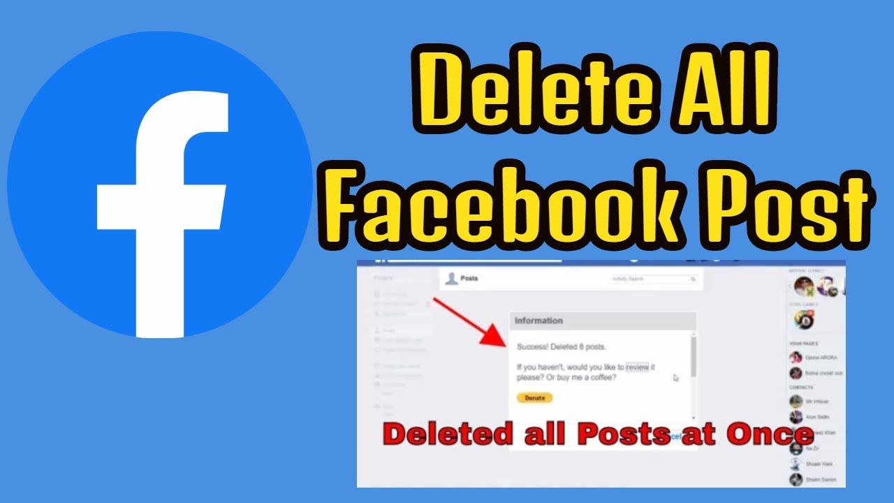 How To Remove Post From Facebook Delete A Facebook Post By D Tech360 Facebook Posts Delete Facebook Facebook Business