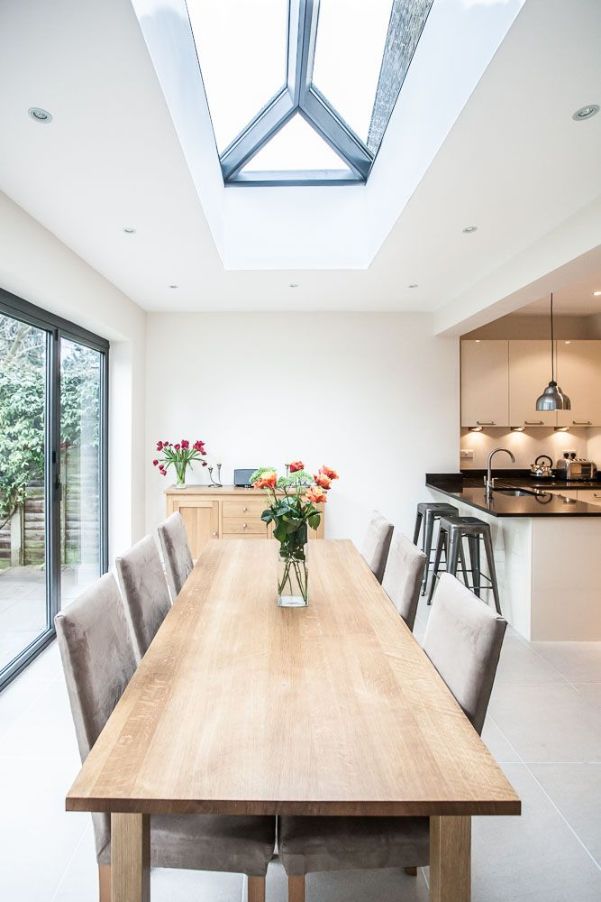White Kitchen Extensions single-storey extension to victorian property in teddingtonl&e