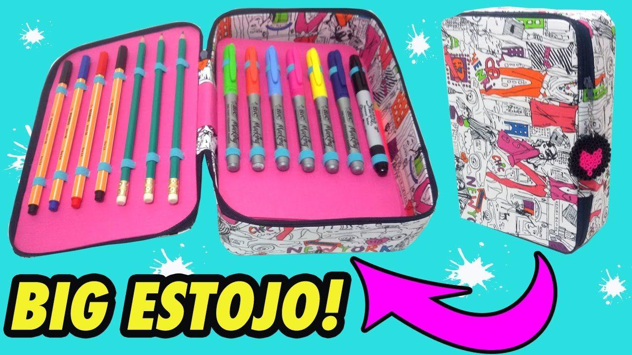 9f570066e DIY Pencil Case ESTOJO tipo KIPLING   Cartonagem   Diy pencil case ...