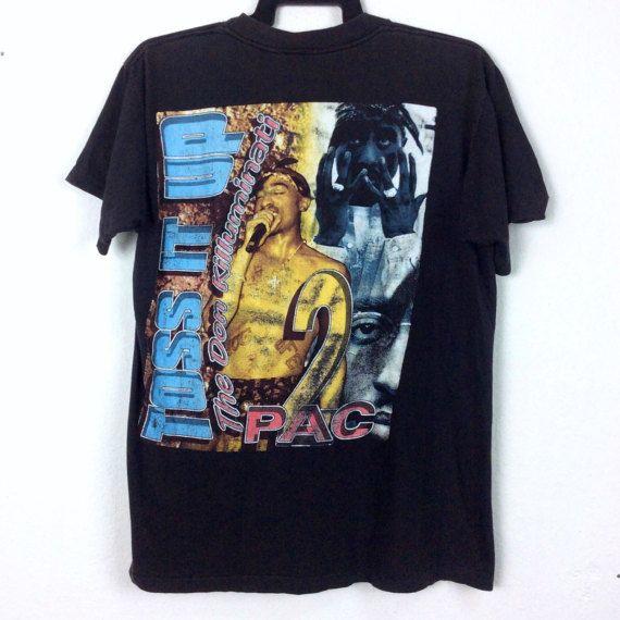 Rare True Vintage 2pac Shirt Tupac By Ehsanvintageclothing On Etsy Vintage Rap Tees Mens Fashion Streetwear Rap Shirt