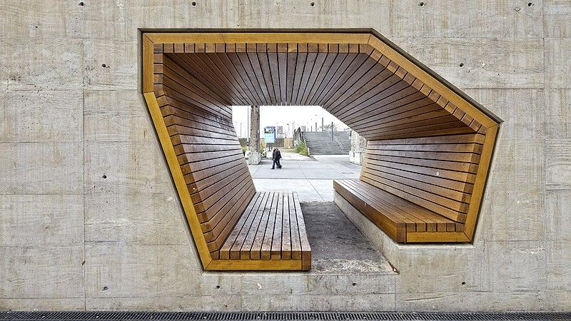 Seat in City Square Developing by landscape architects AllesWirdGut Architektur. Luxembourg.