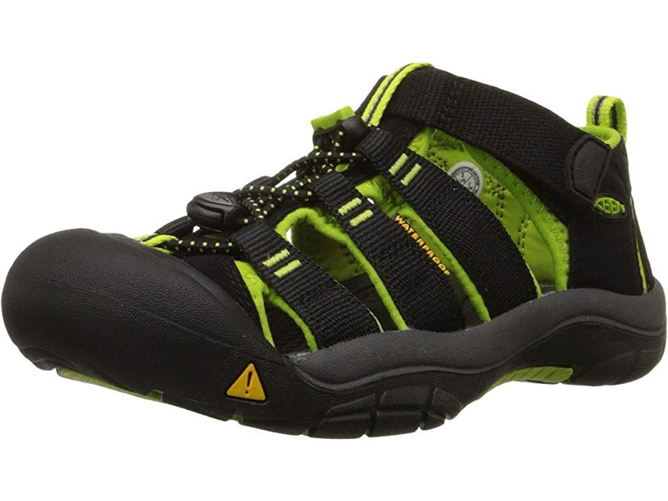 keen kitchen shoes storage cabinets kids newport h2 toddler boys black lime green