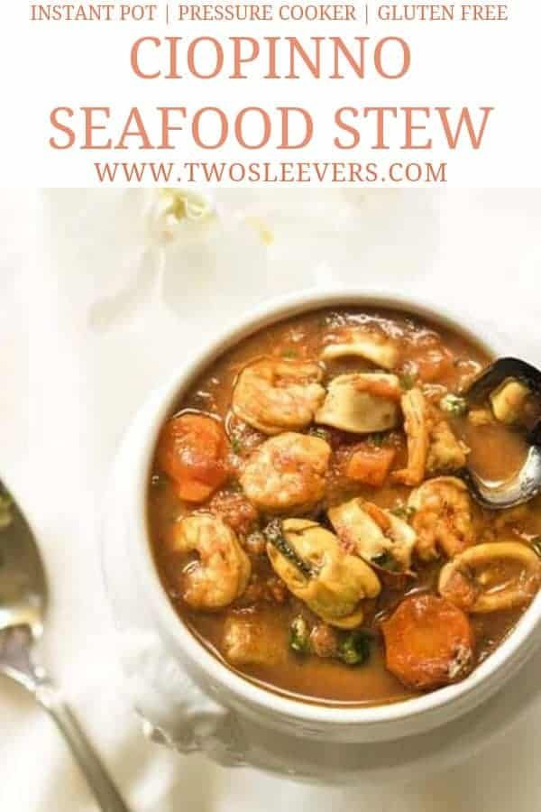Cioppino Seafood Stew | Instant Pot Seafood Recipe