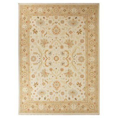 Darby Home Co Hampstead Hand-Knotted Ivory/Taupe Area Rug Rug Size: 2' x 3'