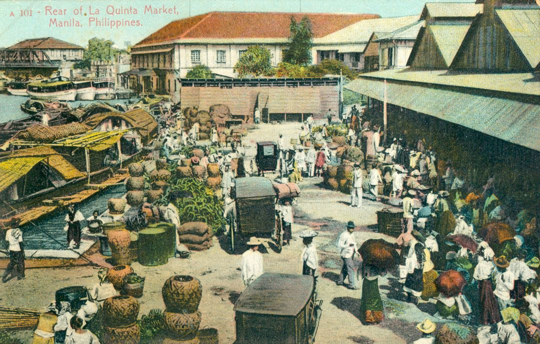 The Rear Of The La Quinta Market In Manila Philippines Street