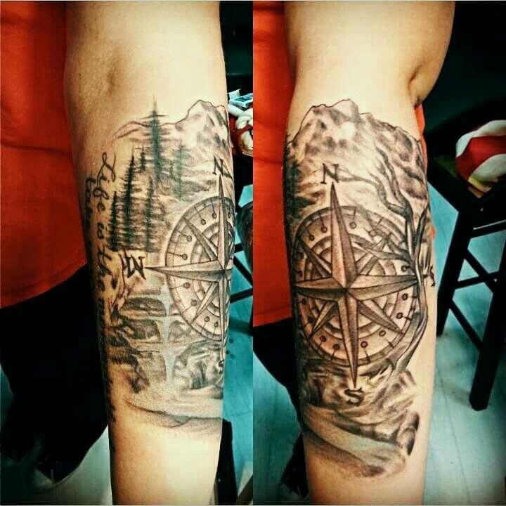 compass nature tattoo tattoos pinterest nature tattoos tattoo and compass tattoo. Black Bedroom Furniture Sets. Home Design Ideas