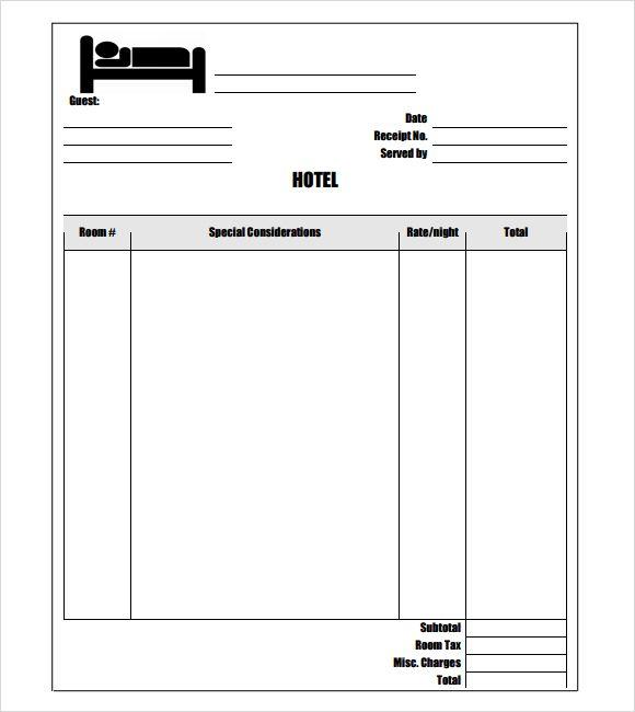 Free Hotel Receipt Template Word inn Pinterest Receipt - invoice form word