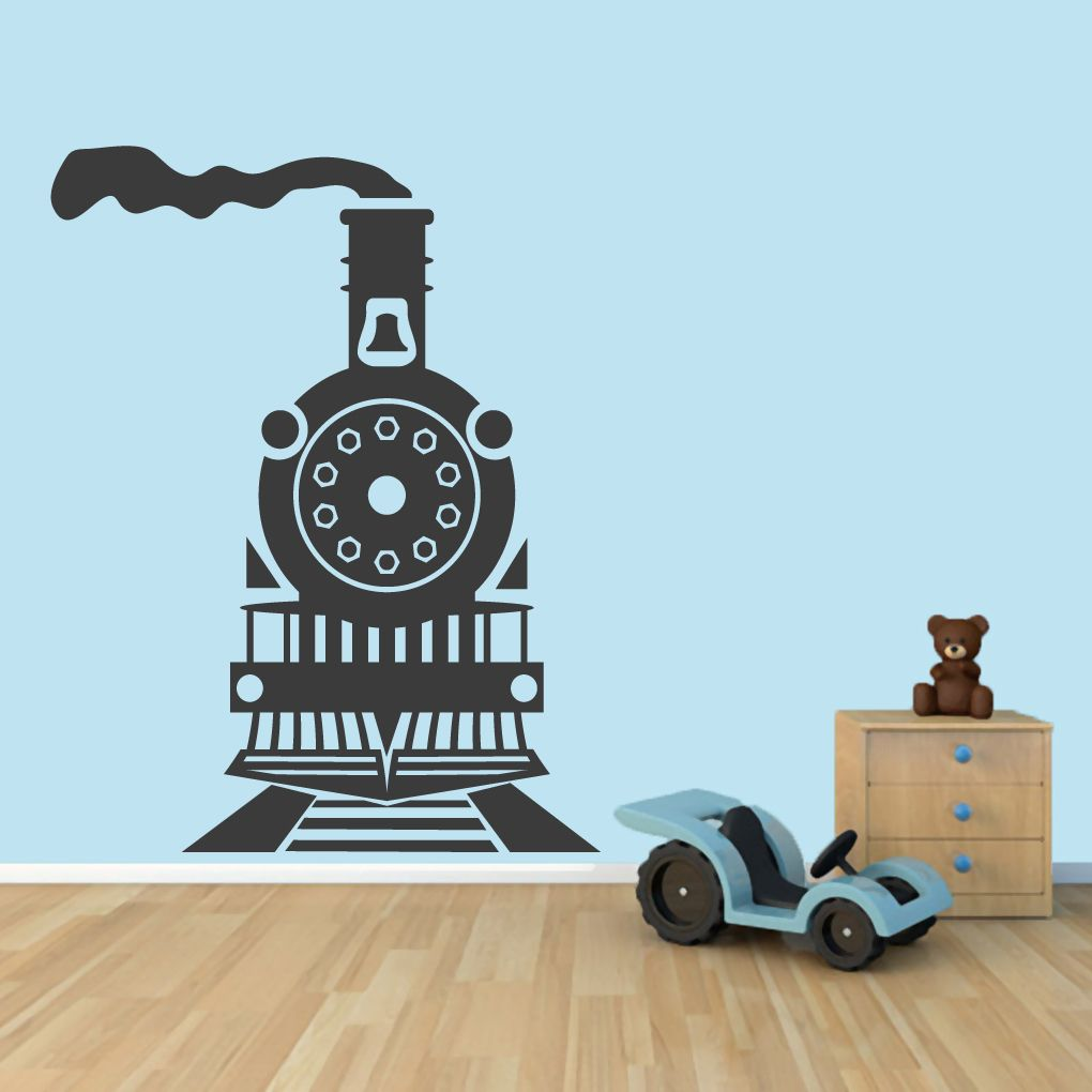 All Aboard Train Boy Vinyl Sticker Decal Wall Art Decor