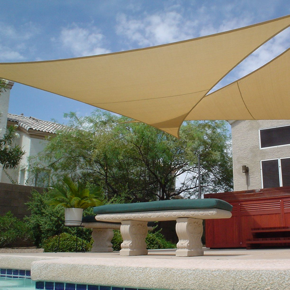 ShadeBeyond X Sand Color Triangle Sun Shade Sail For Patio UV Block Outdoor Facility And