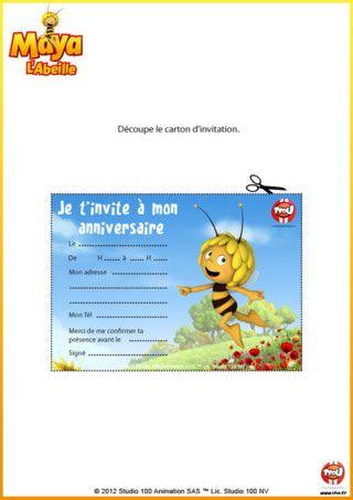 Carton D Invitation Maya Maya L Abeille Tfou Invitations